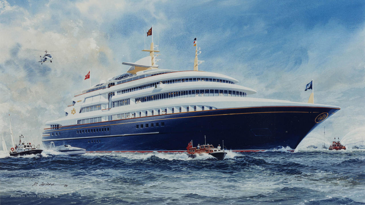 Andrew Winch Reveals Designs For Royal Yacht Britannia