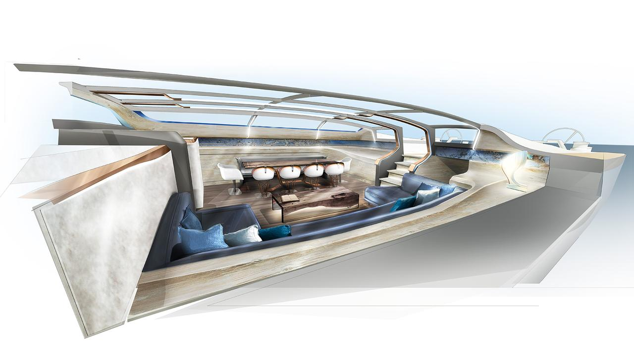 Glass Deck Lights Up Design Unlimited And Reichel Pugh 35m
