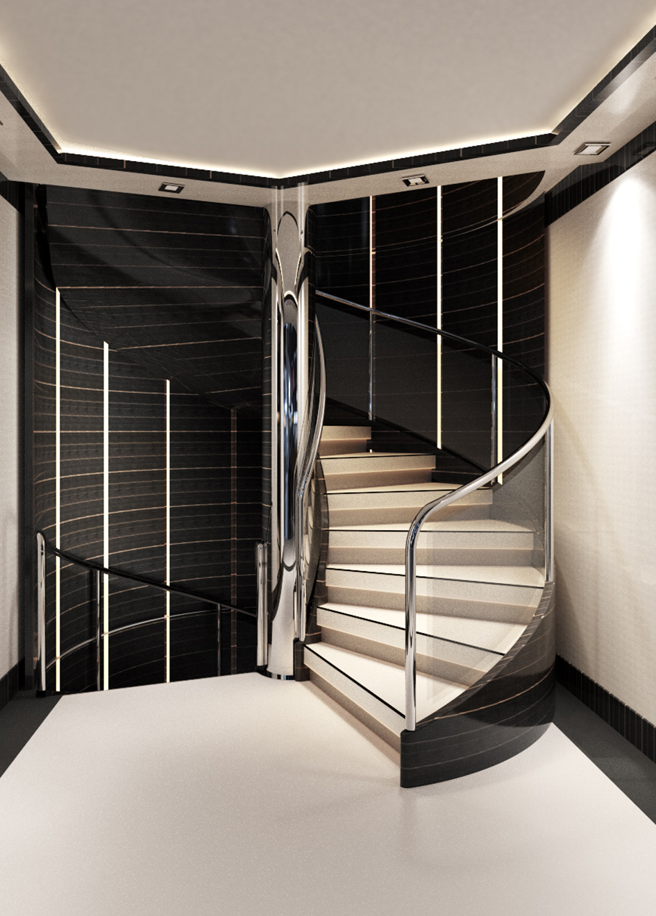 the-staircase-of-the-golden-yacht-superyacht-omathilde