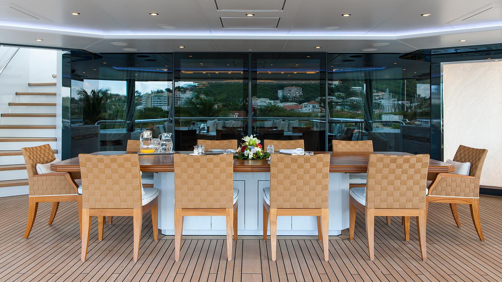 Ester 3 Yacht Al Fresco Dining