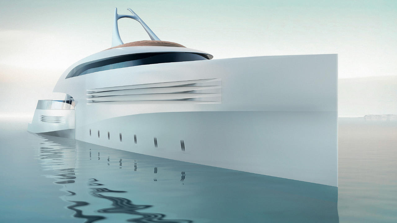 top 6 futuristic design features of feadship project. Black Bedroom Furniture Sets. Home Design Ideas
