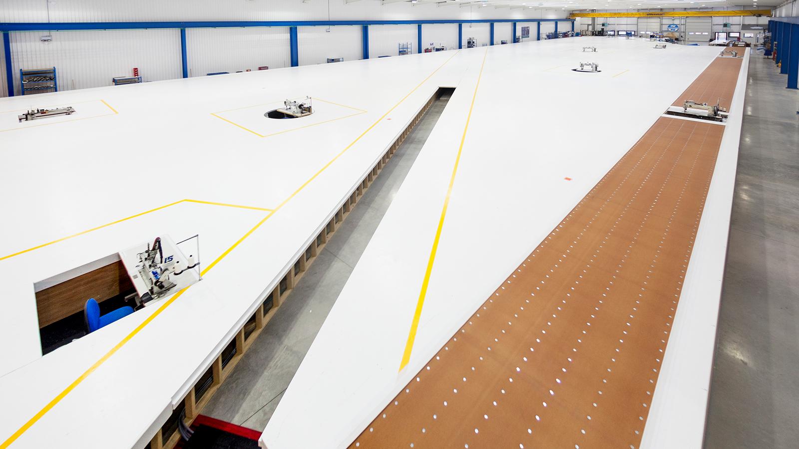 Inside North Sail's new sail loft