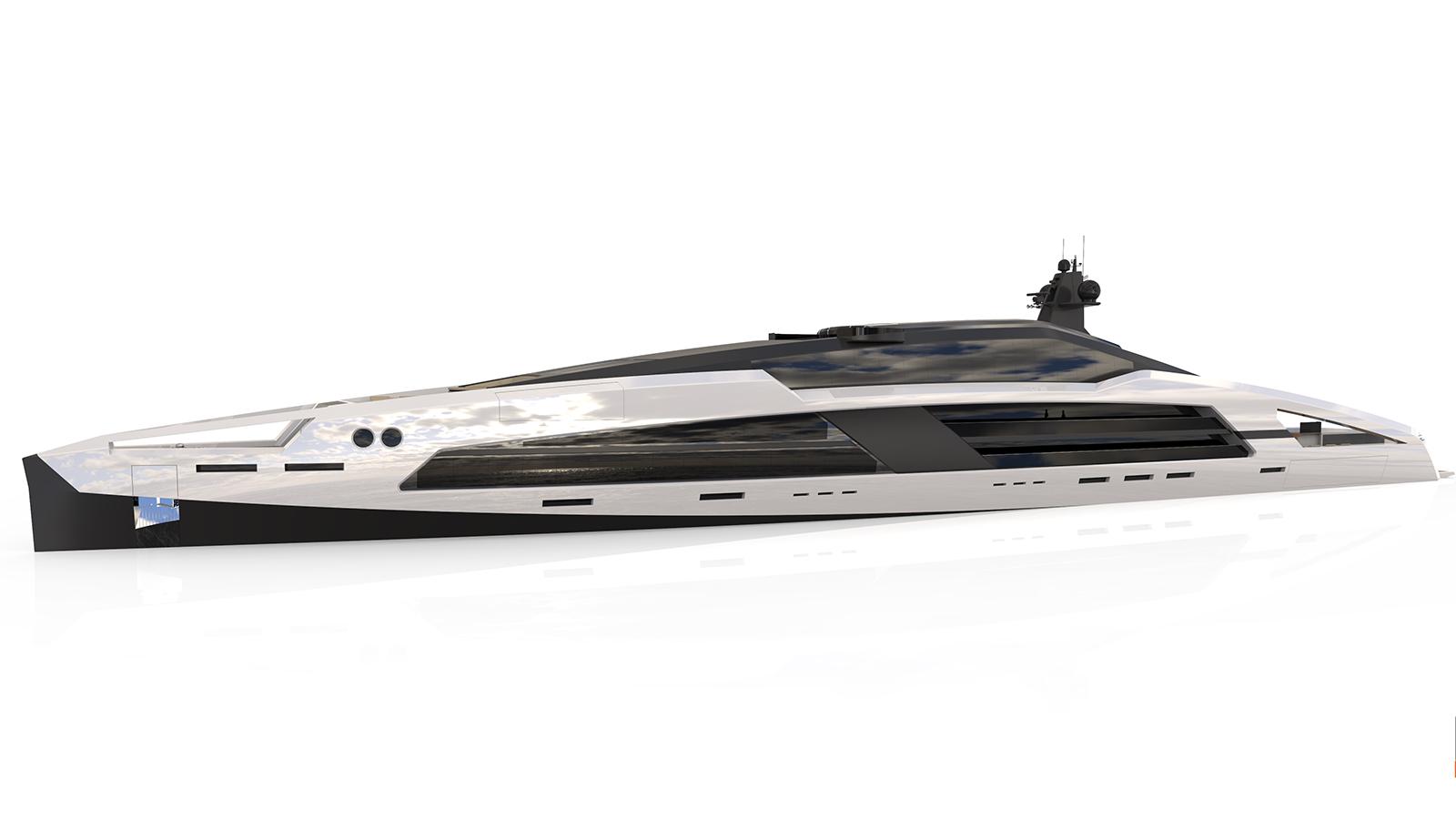 Aqueous 120m superyacht concept