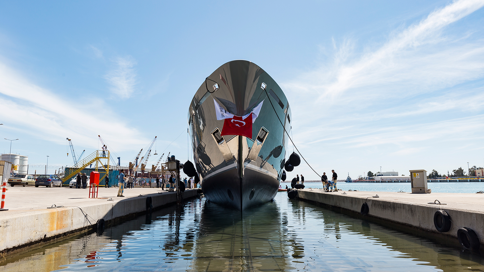 Sarp Yacht launches first superyacht Sarp 46