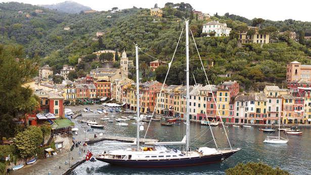 Andromeda la Dea superyacht, in Portofino harbour