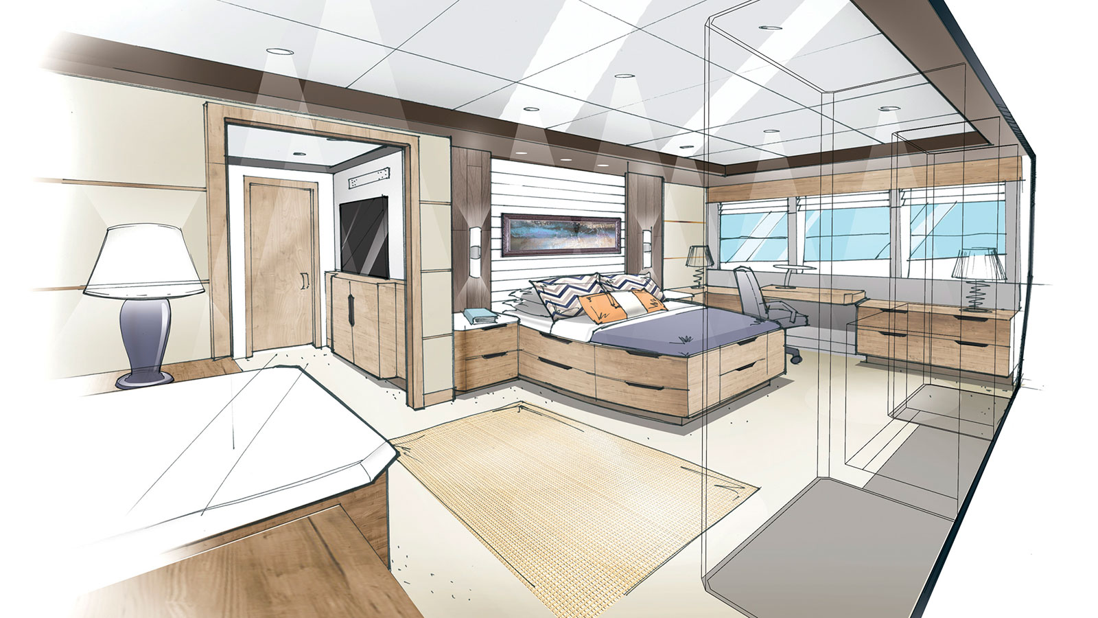 Outer Reef Trident 3000 master suite
