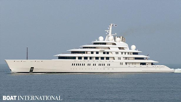 World's largest superyacht Azzam during second round of sea trials