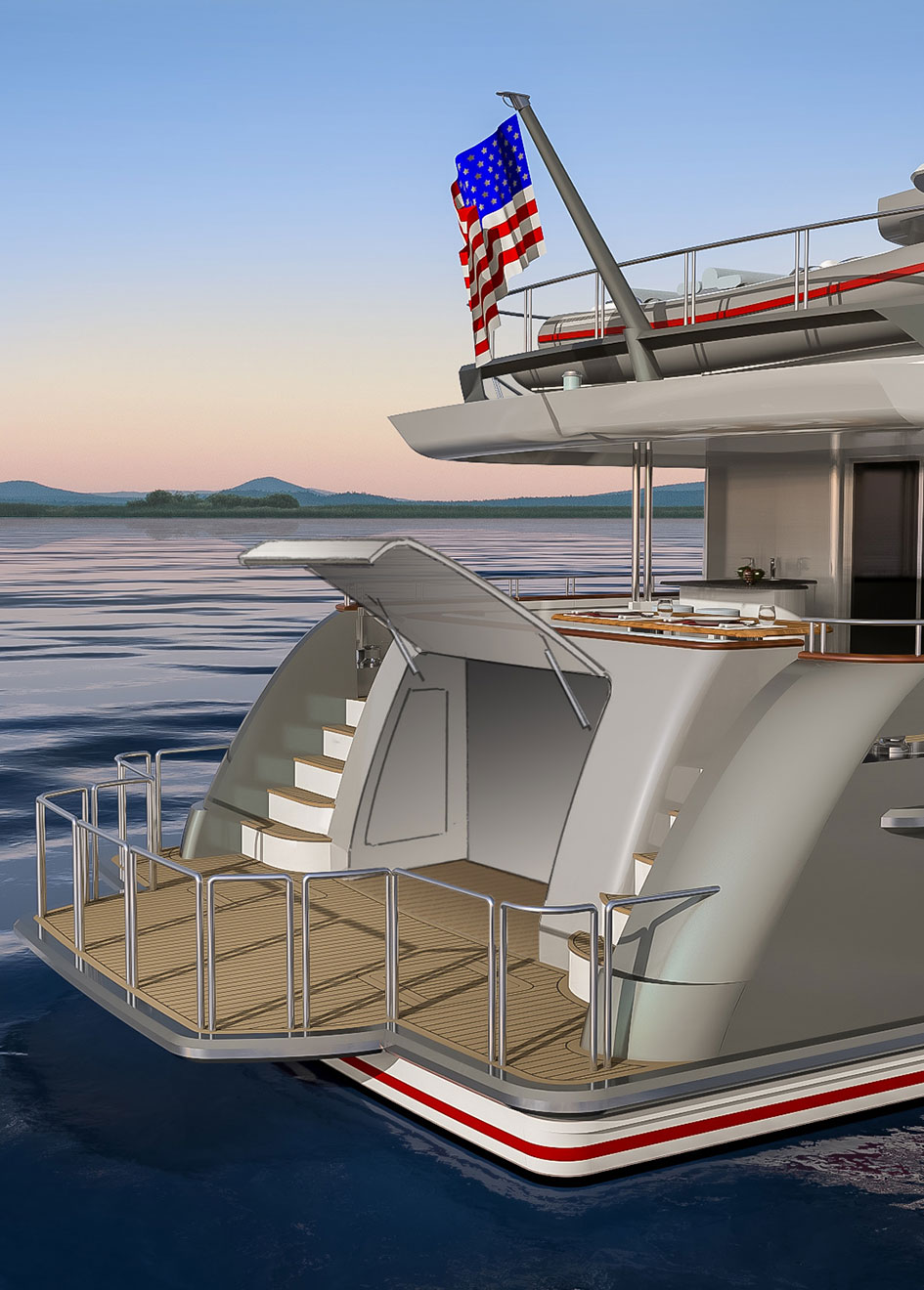 Outer Reef Trident 3000 transom