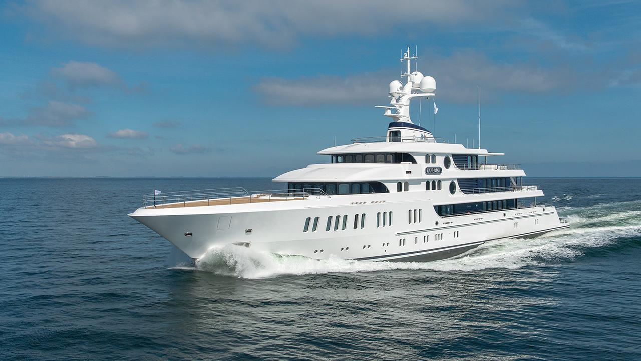 Art Deco-inspired superyacht Aurora delivered by Lürssen