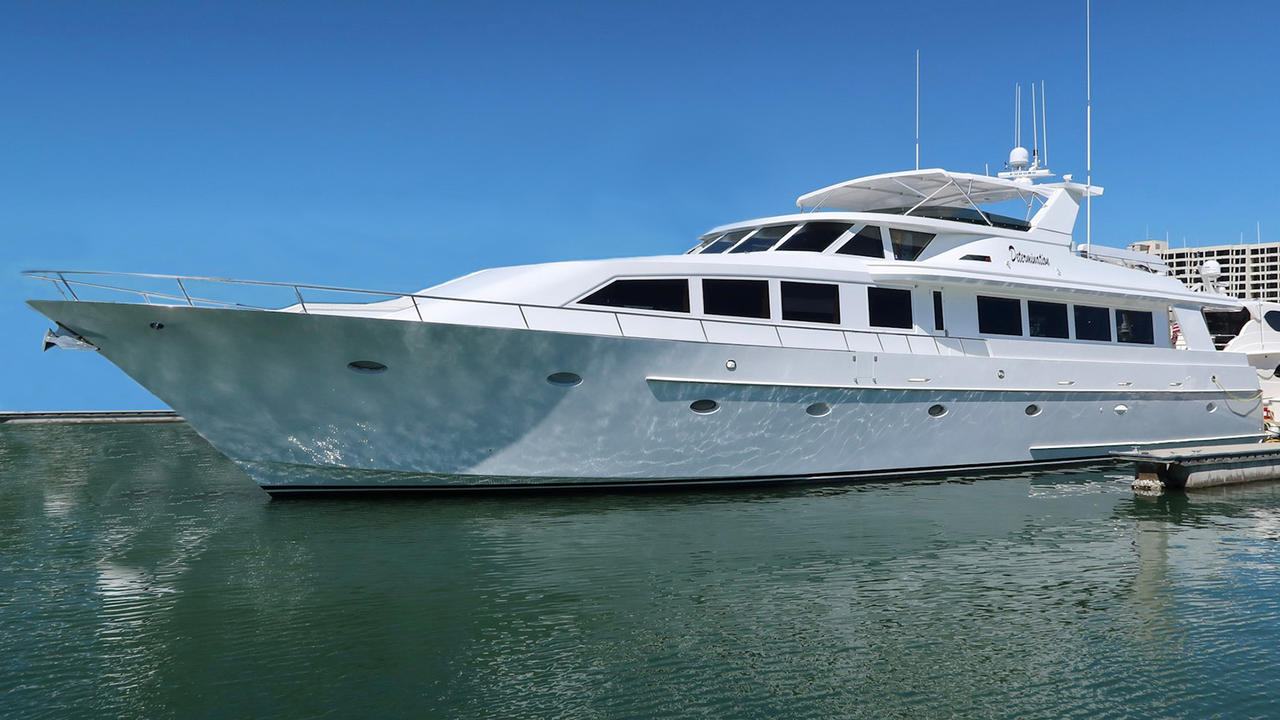 Crescent Custom motor yacht Determination now for sale with Bradford