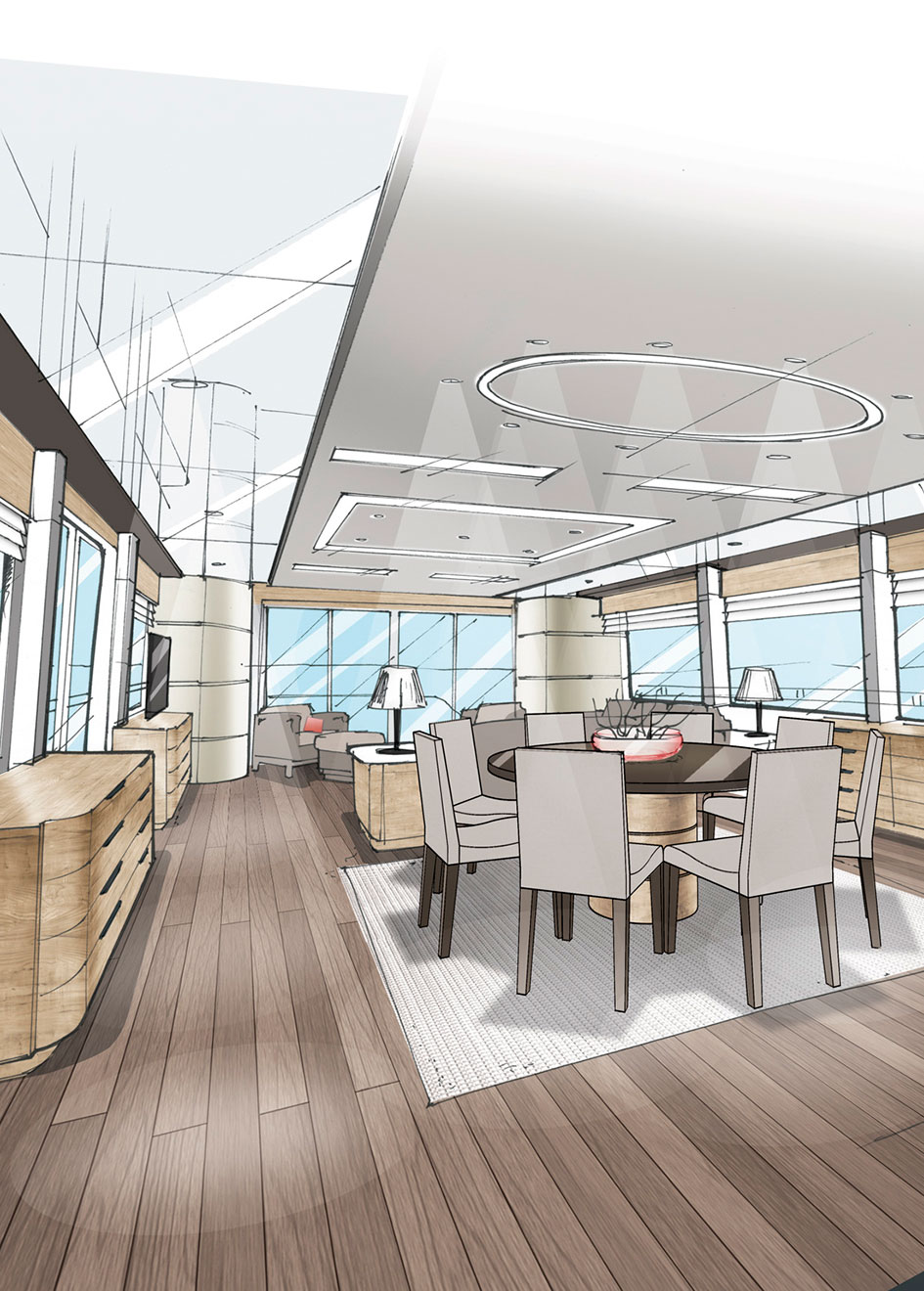 Outer Reef Trident 3000 main saloon