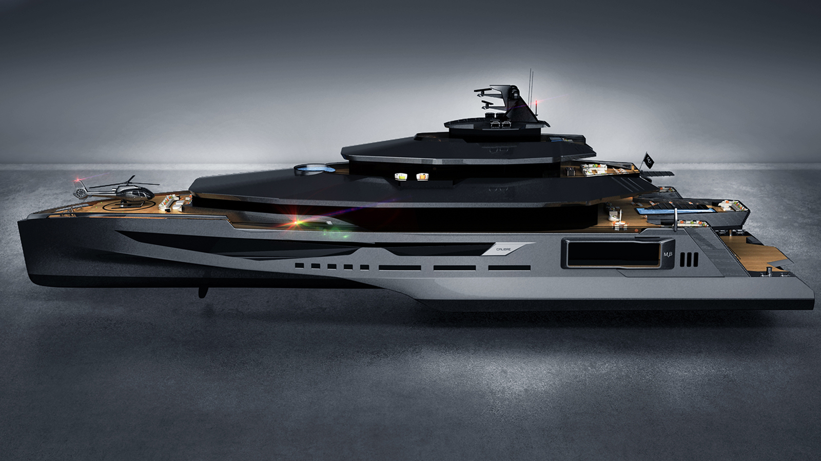 Calibre 102m Yacht Concept Hull