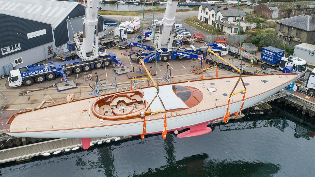 Exclusive Video Shows Launch of Spirit 111 Flagship 34 Metre Sailing Yacht