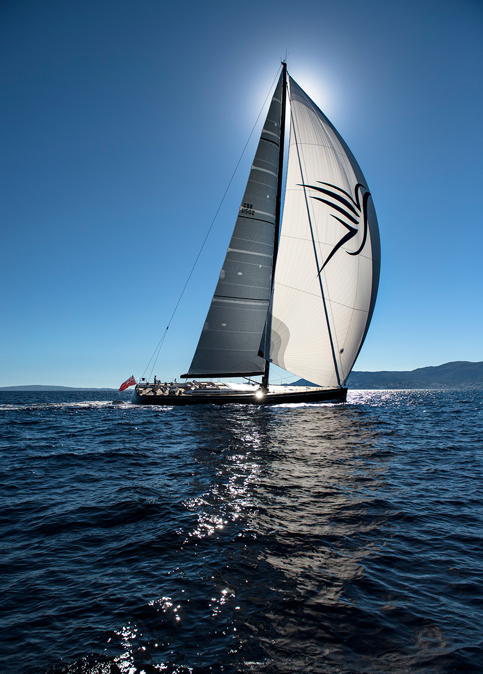 running-shot-of-the-nautors-swan-115-fd-sailing-yacht-shamanna