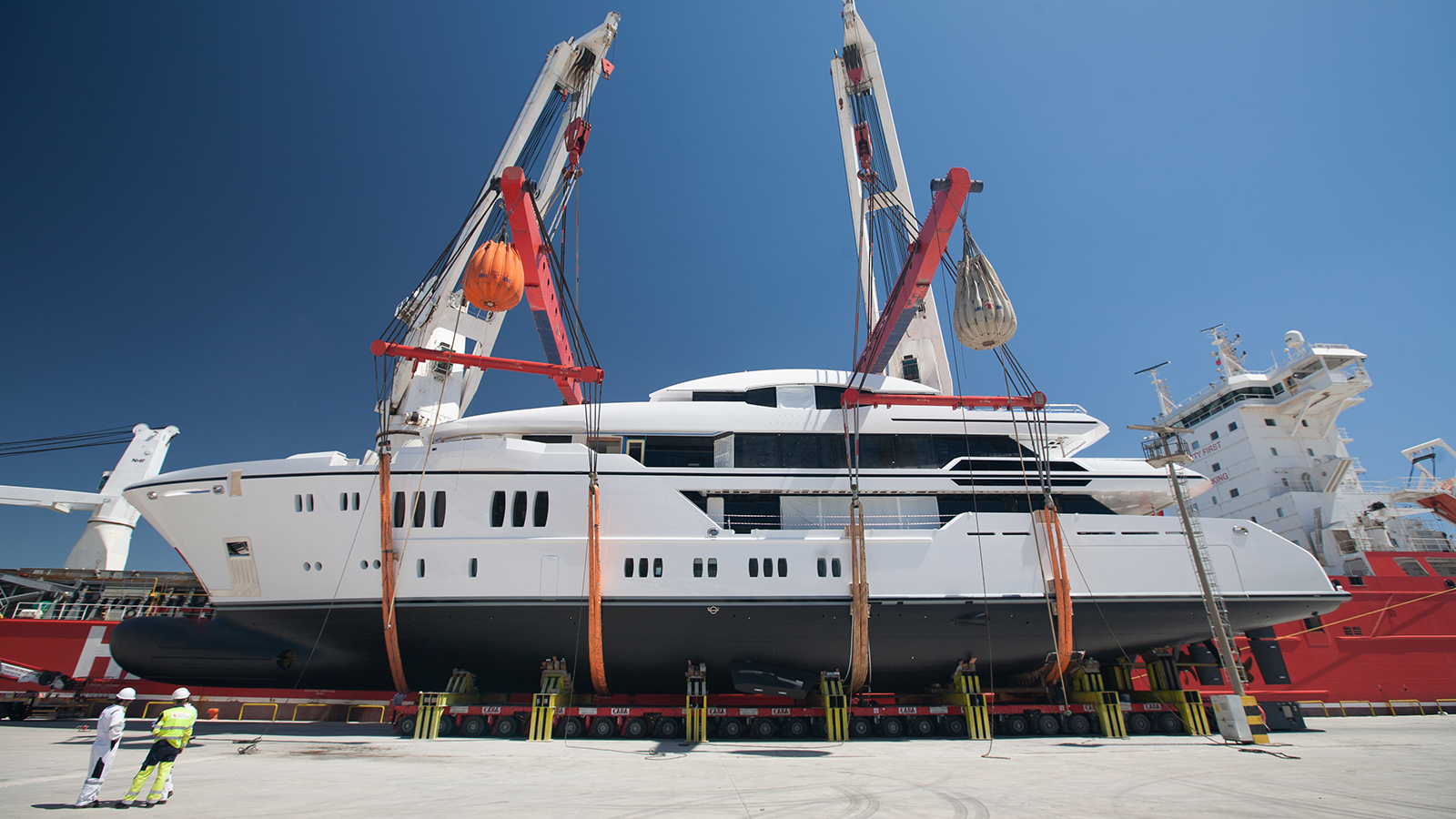 photos first Sunrise 63m yacht Irimari launched