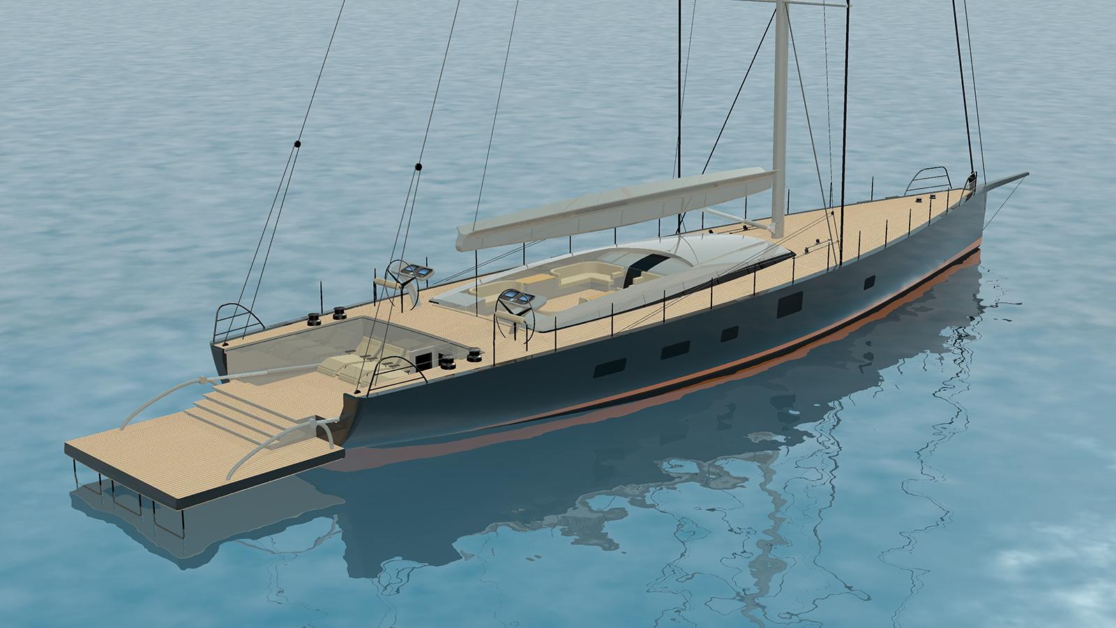 Dubois Super Stern Yacht Aft