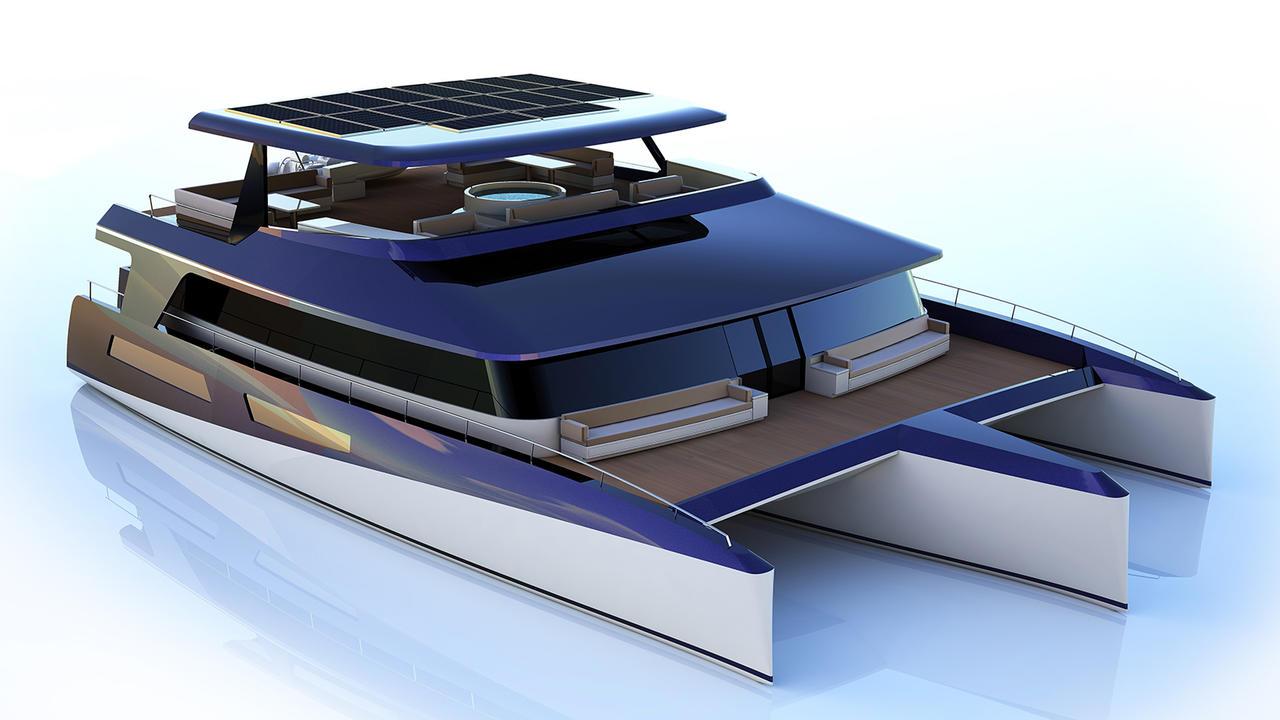 pi superyachts reveals trimaran concept dragonship 25 boat international. Black Bedroom Furniture Sets. Home Design Ideas