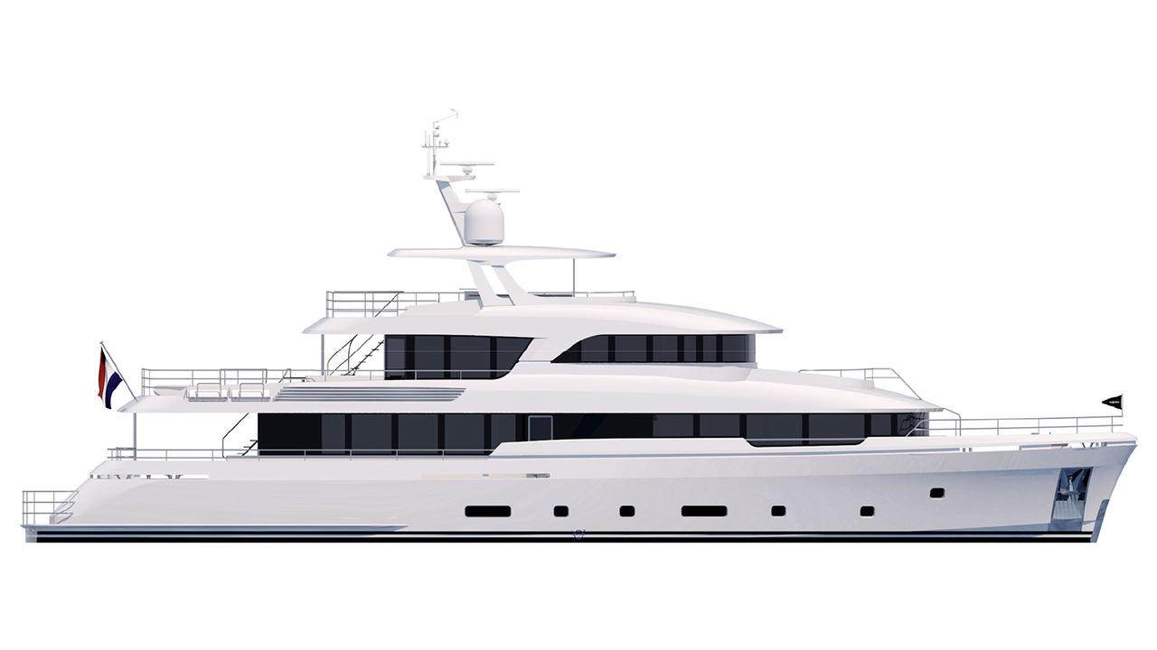 Moonen begins construction on second hull in 36m Martinique series
