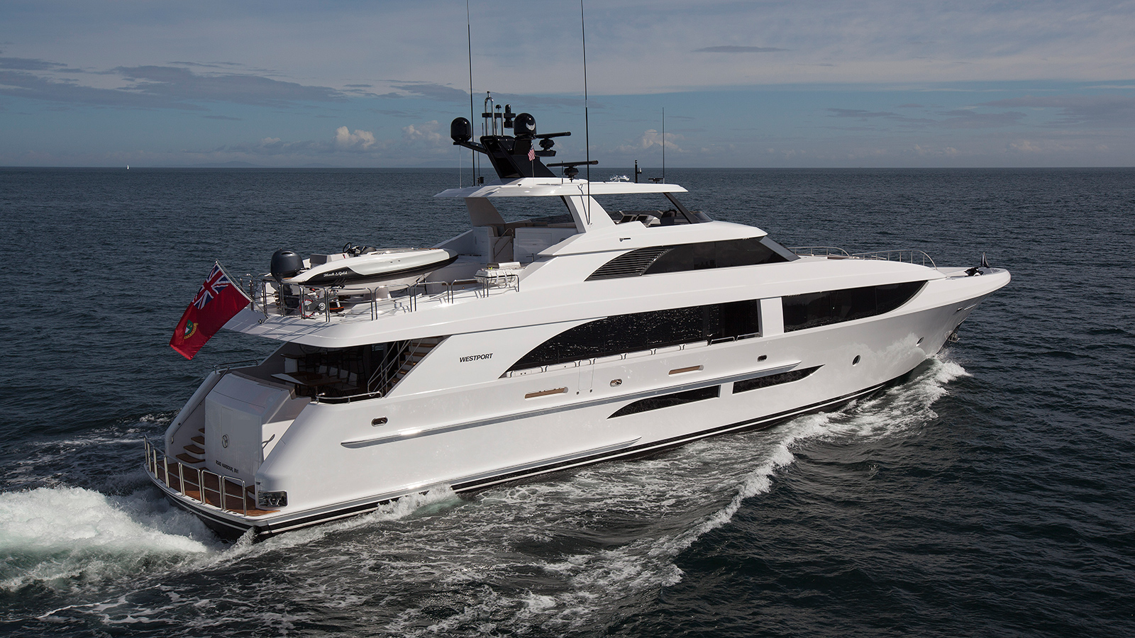 the-side-view-of-the-westport-125-yacht-black-gold