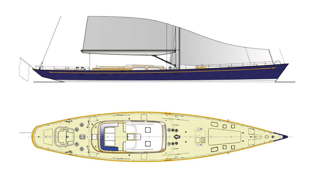 Hull of Derecktor 150 sailing yacht listed for sale on eBay