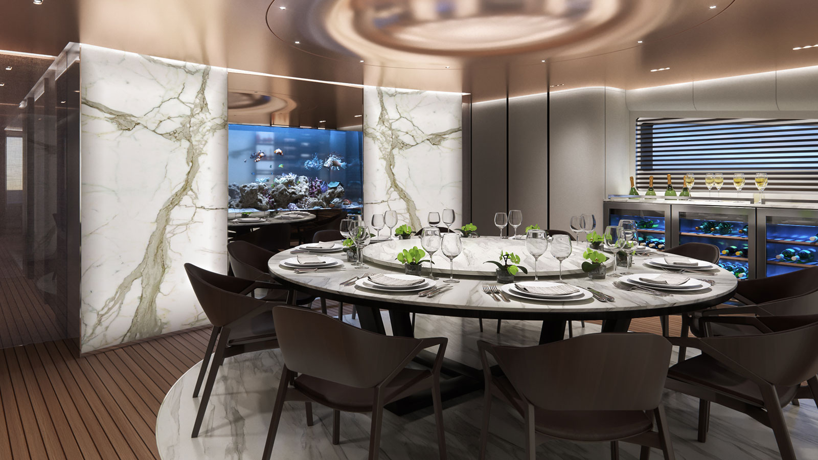 the-dining-area-of-the-tecnomar-evo-115-superyacht