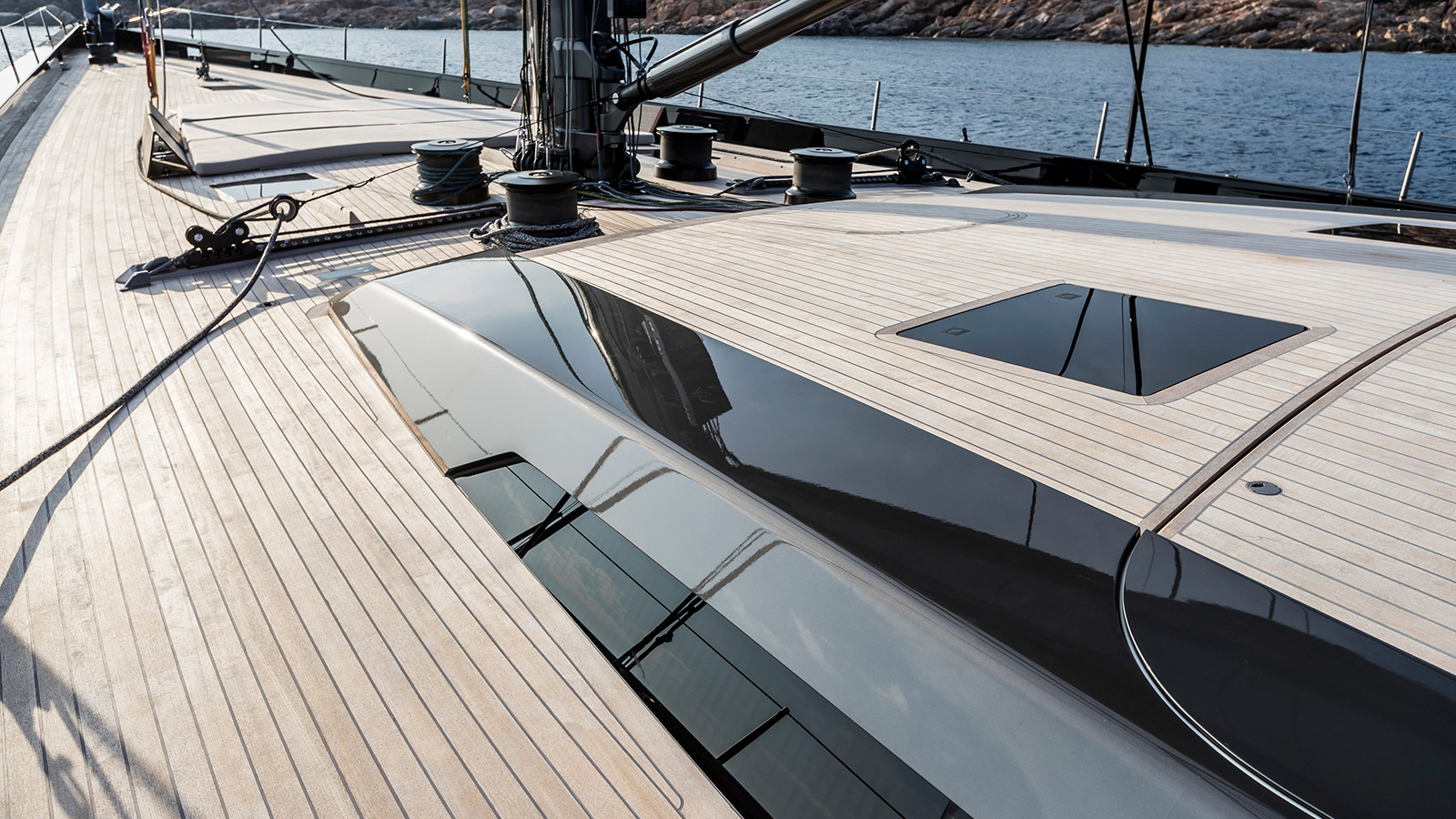 the-deck-of-Baltic-130-custom-sailing-super-yacht-my-song