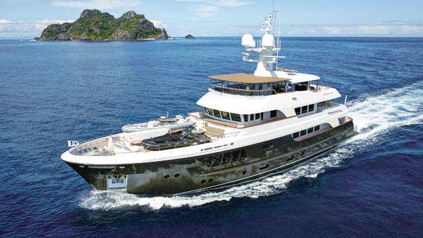 caryali super yacht aerial profile