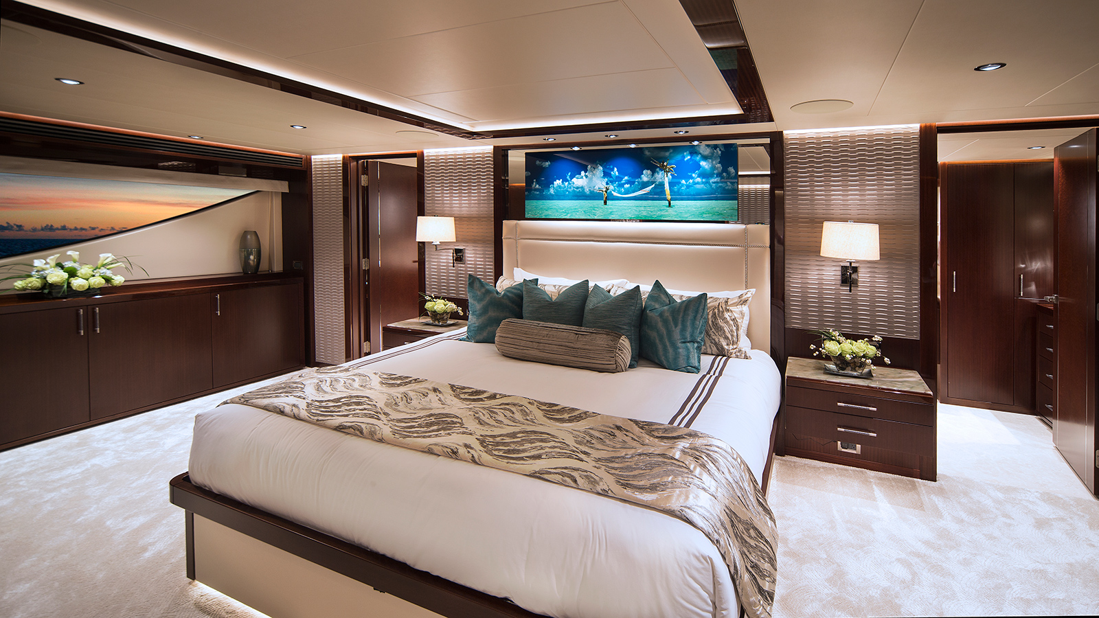 the-master-cabin-of-the-westport-125-yacht-black-gold