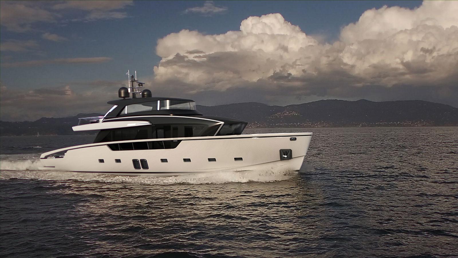 running-shot-of-the-sanlorenzo-sx88-yacht
