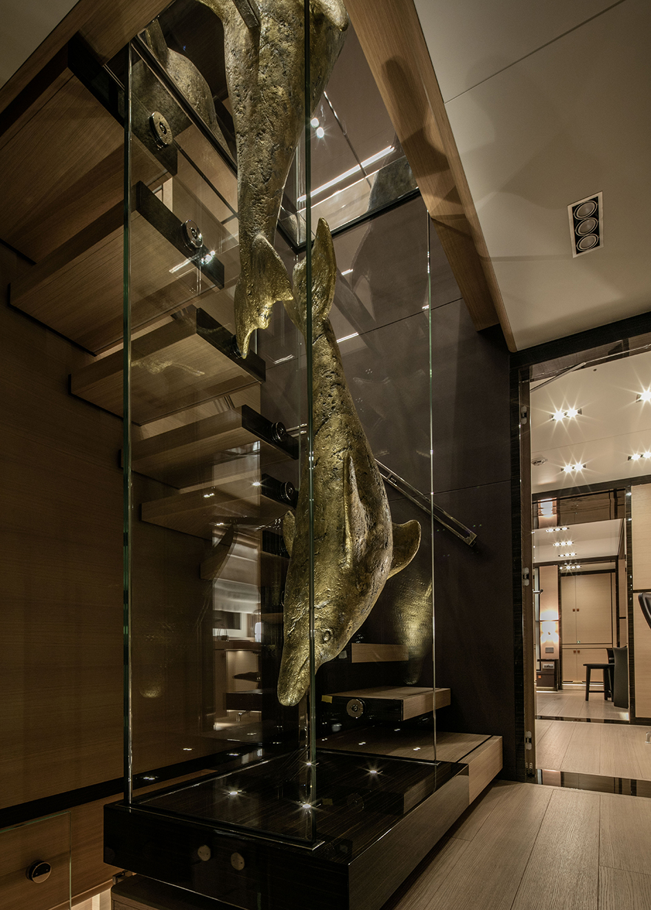 the-staircase-of-the-cantiere-delle-marche-nauta-air-111-yacht-hyhma