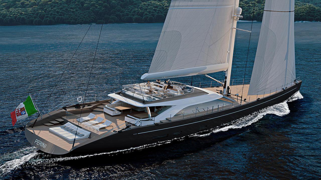 perini navi reveals designs for 47m sailing superyacht. Black Bedroom Furniture Sets. Home Design Ideas