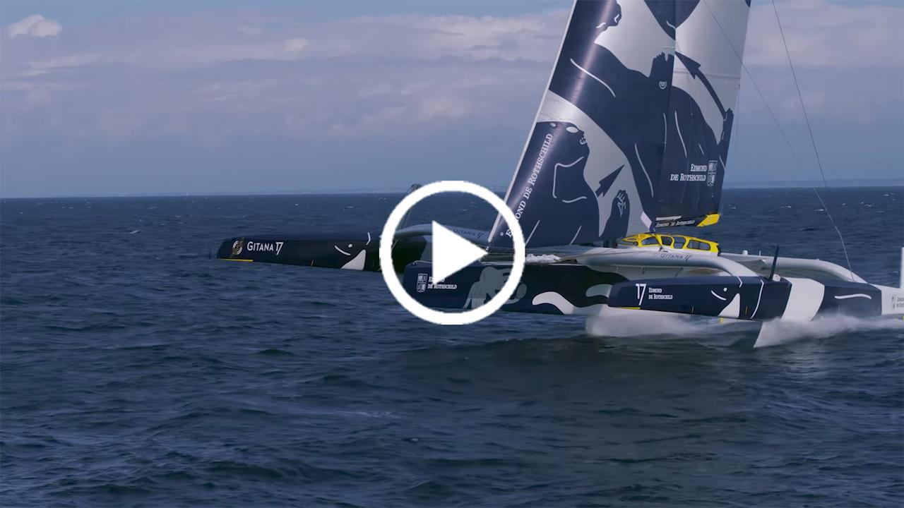 Video Flying On The World S Largest Foiling Trimaran