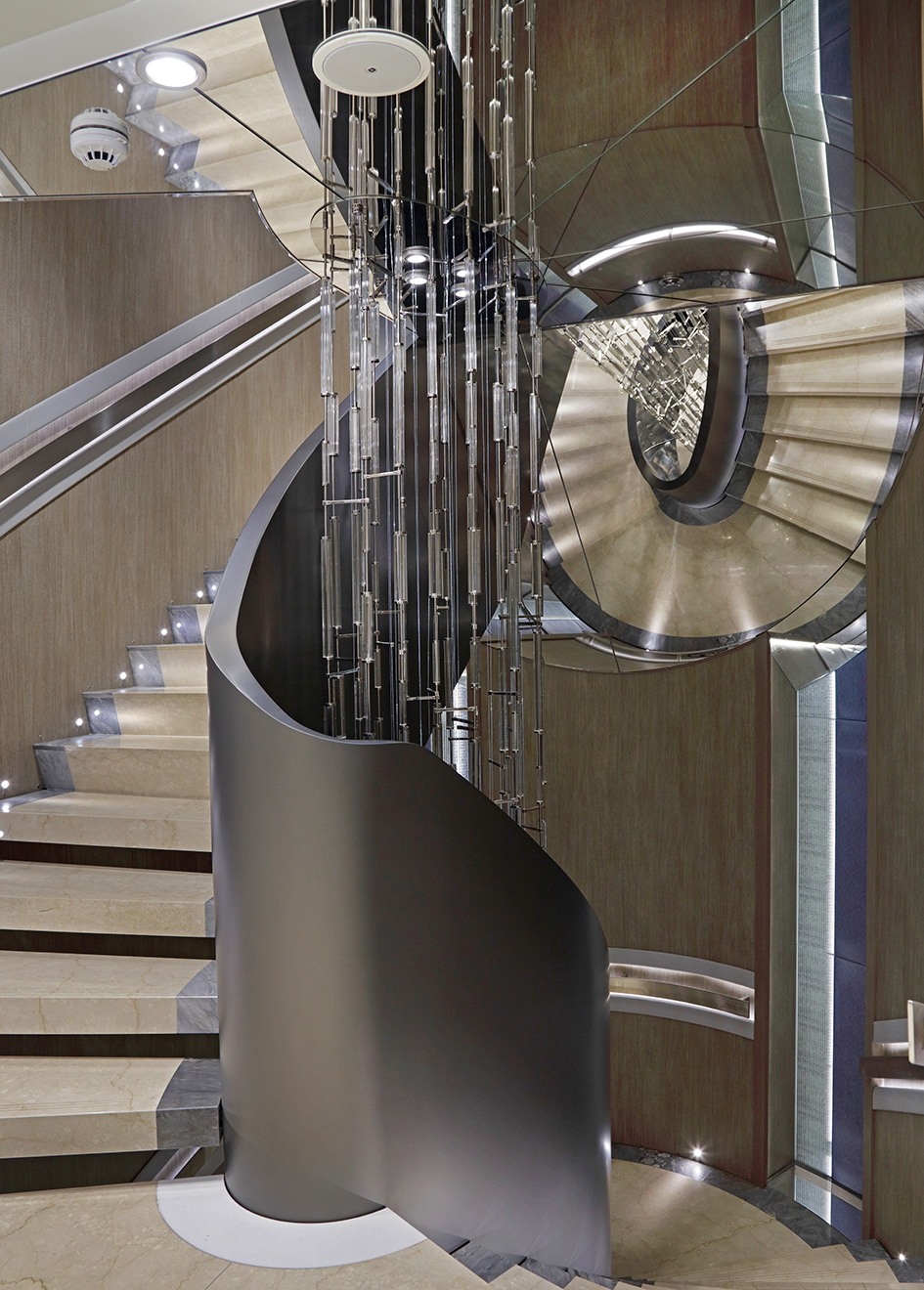 the-staircase-on-kleven-explorer-yacht-ulysses