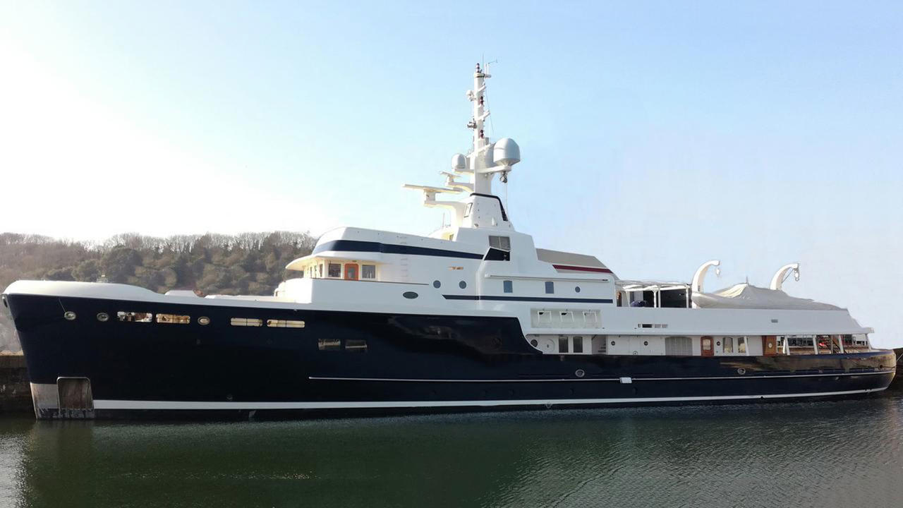 Pendennis explorer yacht Steel now for sale with Burgess