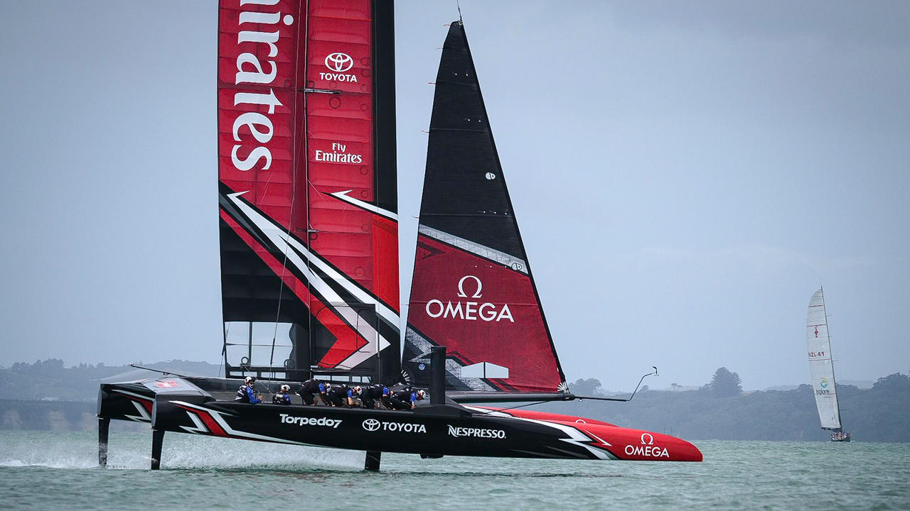 Pedal power: Emirates Team New Zealand launches ACC raceboat | Boat International