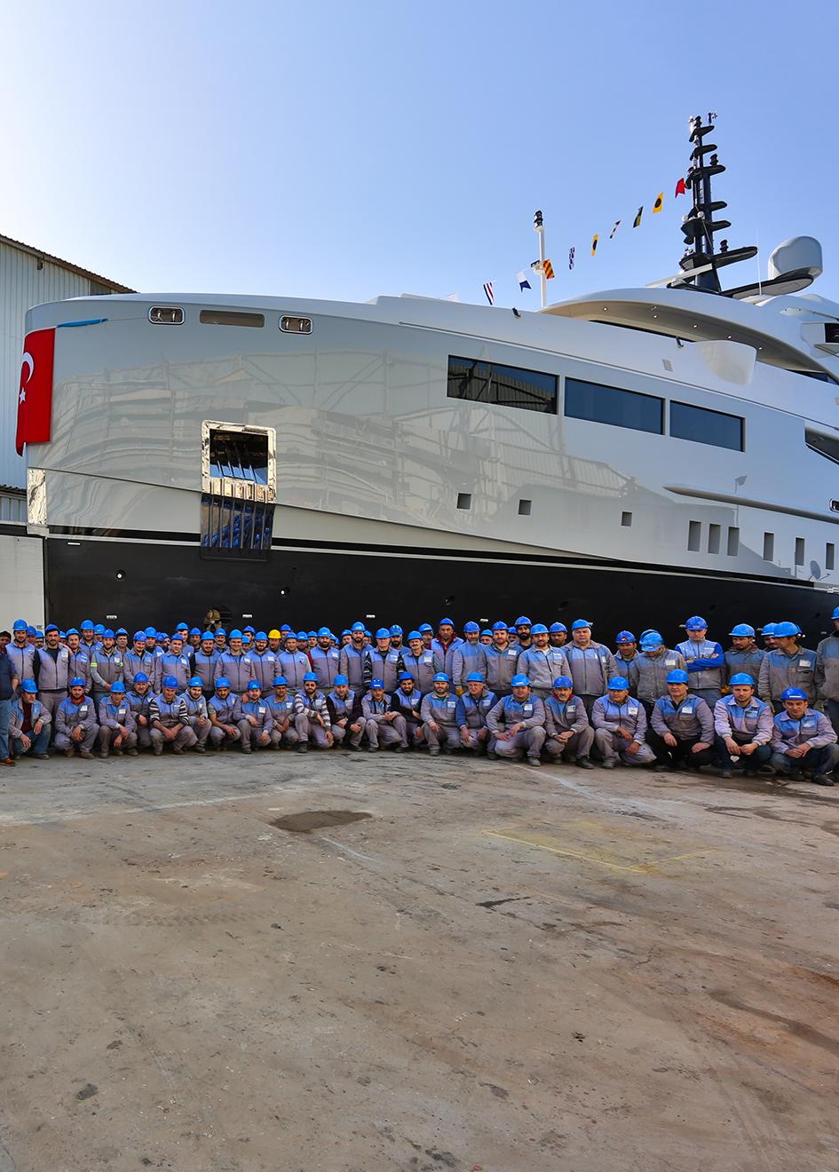 Bilgin-155-super-yacht-Giaola-Lu-launch-ceremony