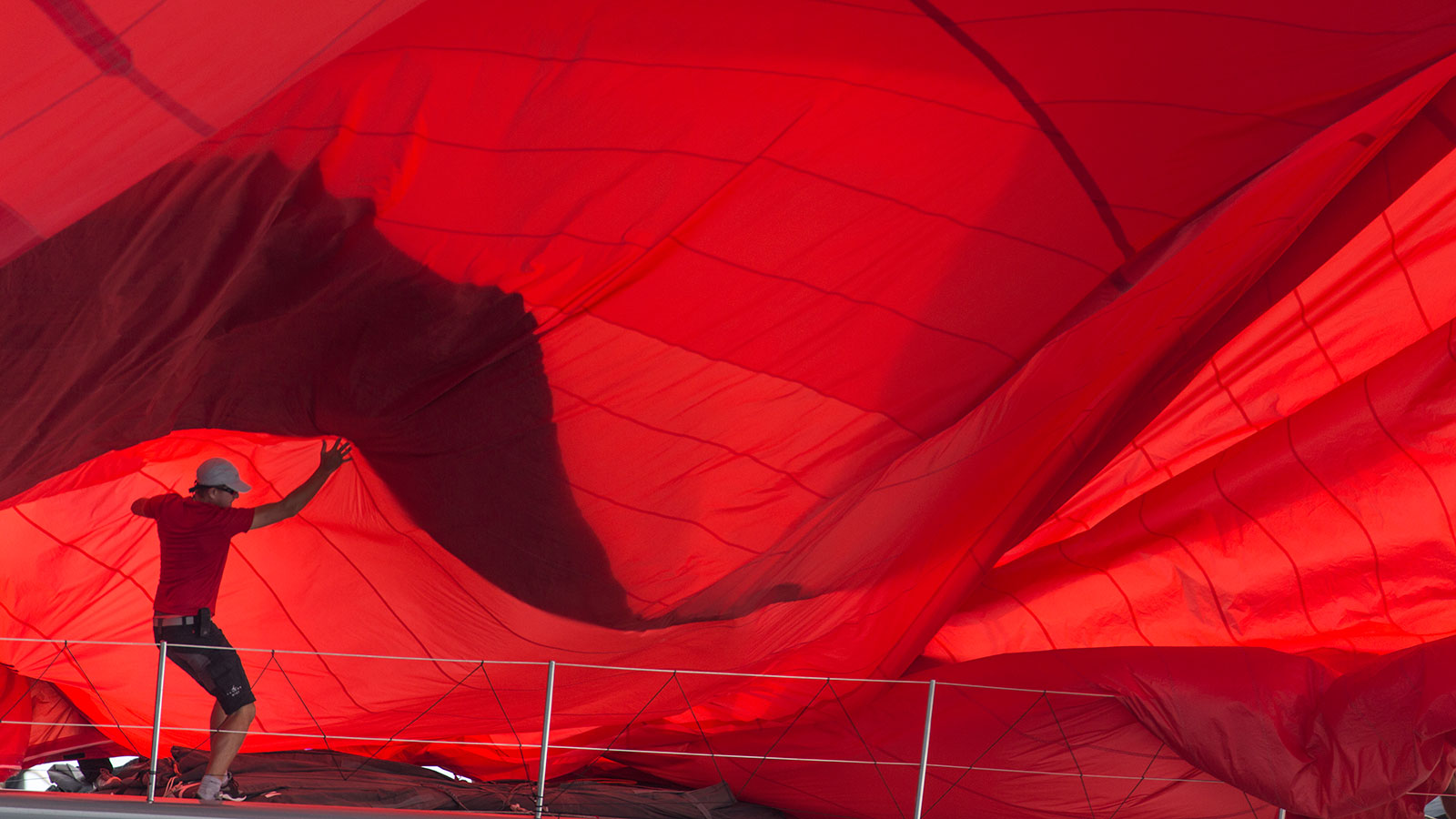 Wally red spinnaker