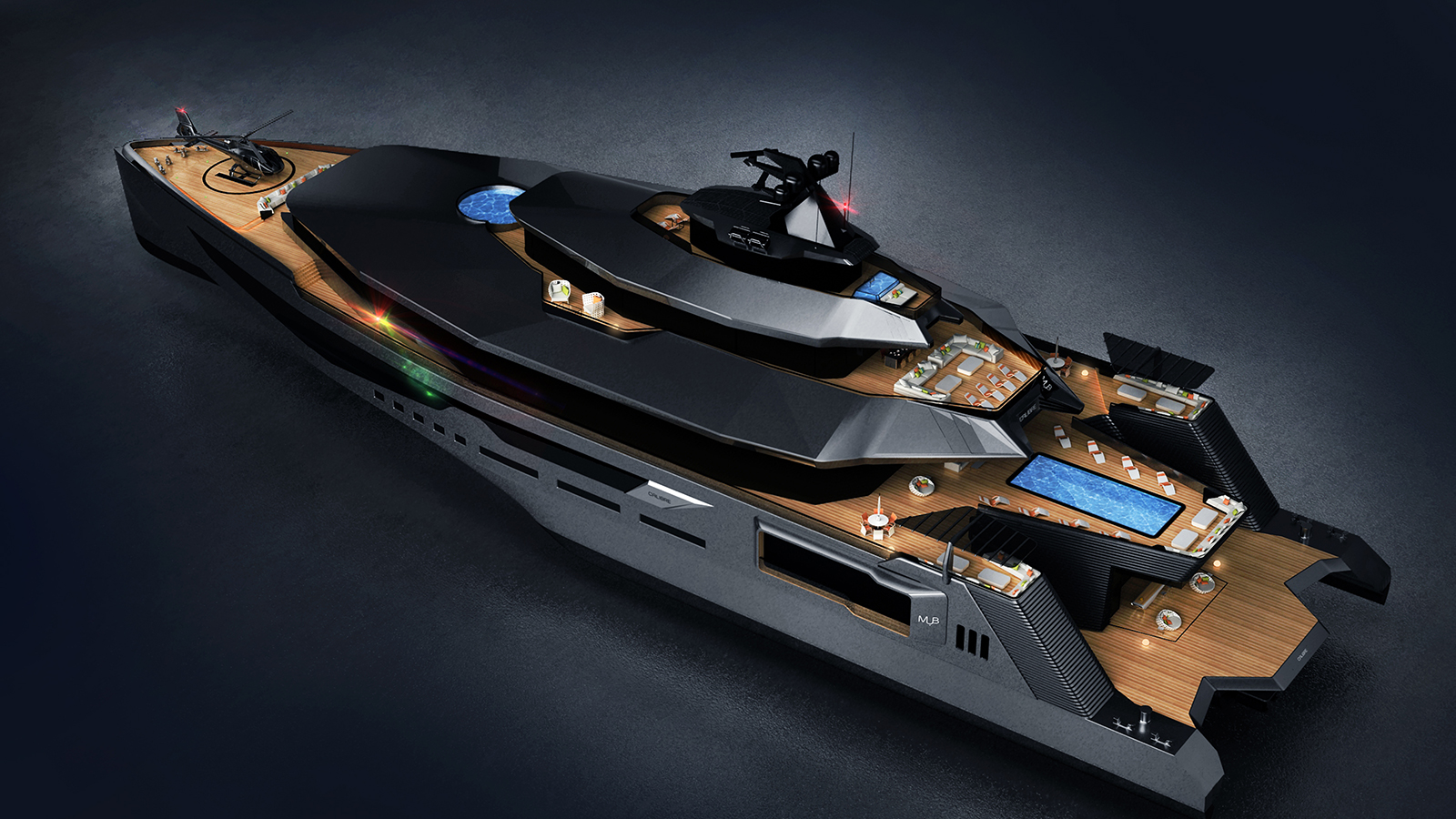 Calibre 102 Yacht Concept Pool