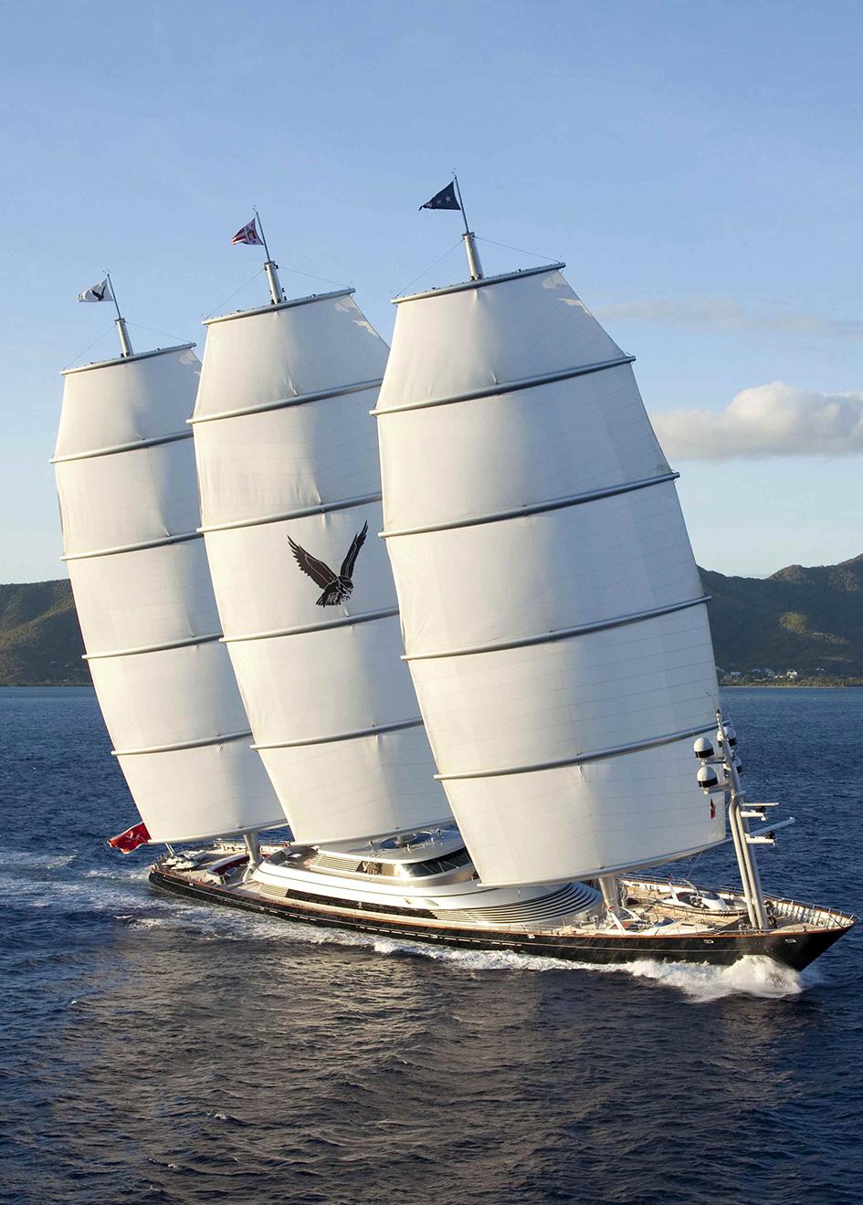 Mega yacht Maltese Falcon