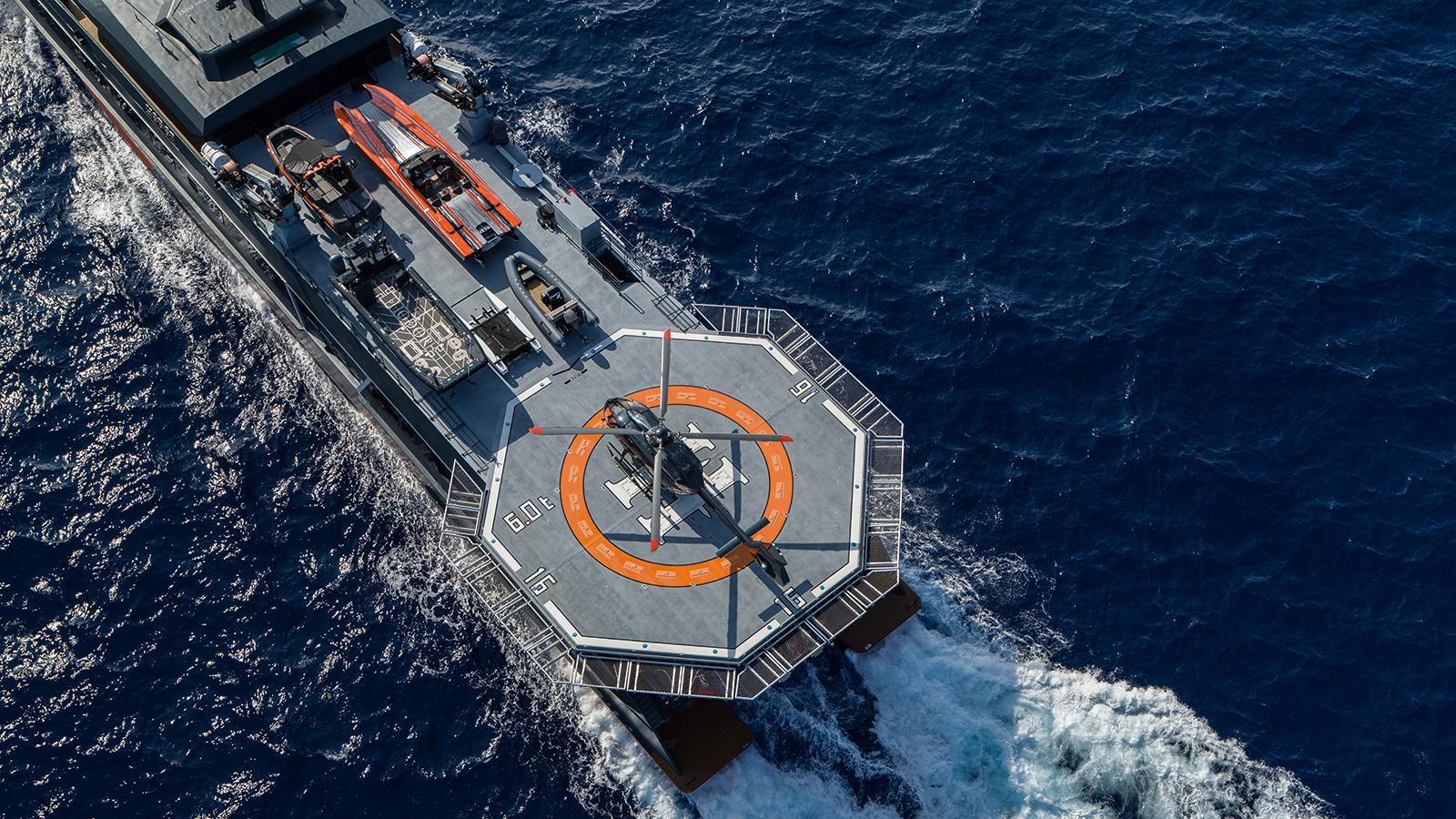 catamaran-superyacht-Hodor-worlds-largest-toybox-helicopter
