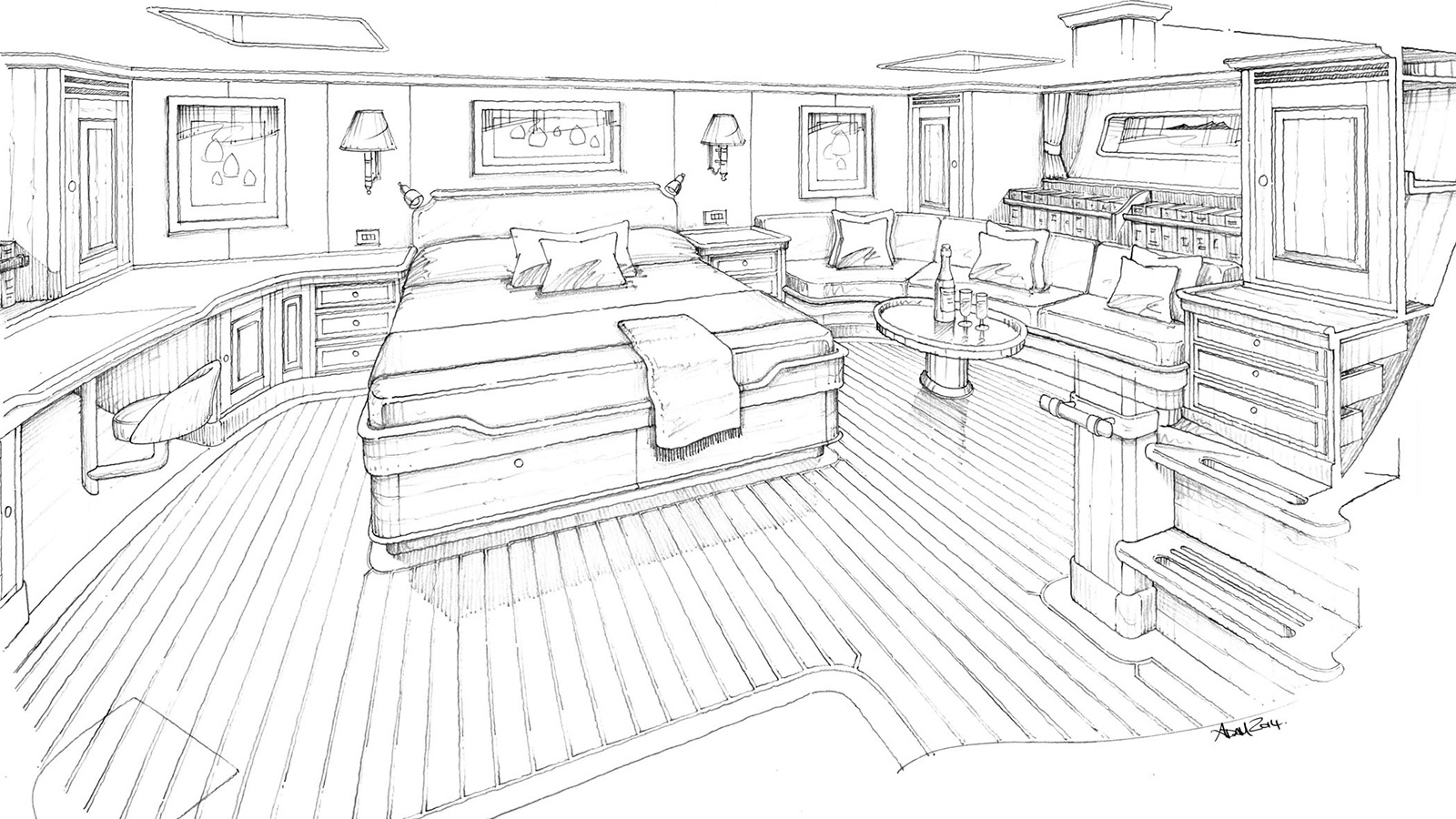Yachting Developments 110 Frers Sloop Owners Cabin