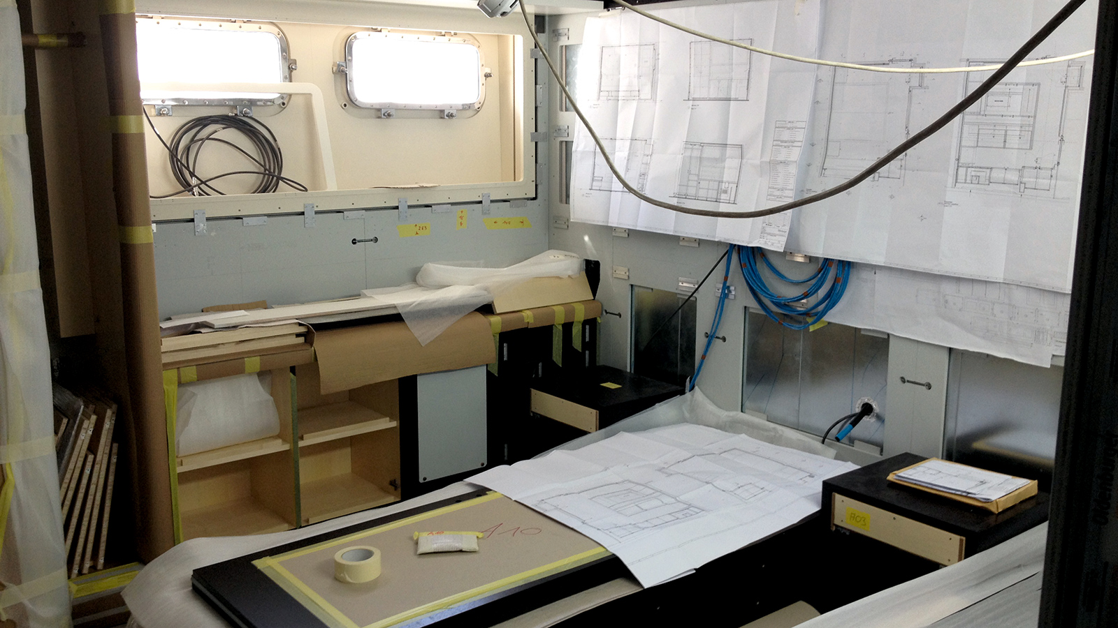 guest-cabin-of-classic-feadship-super-yacht-mirage-during-refit