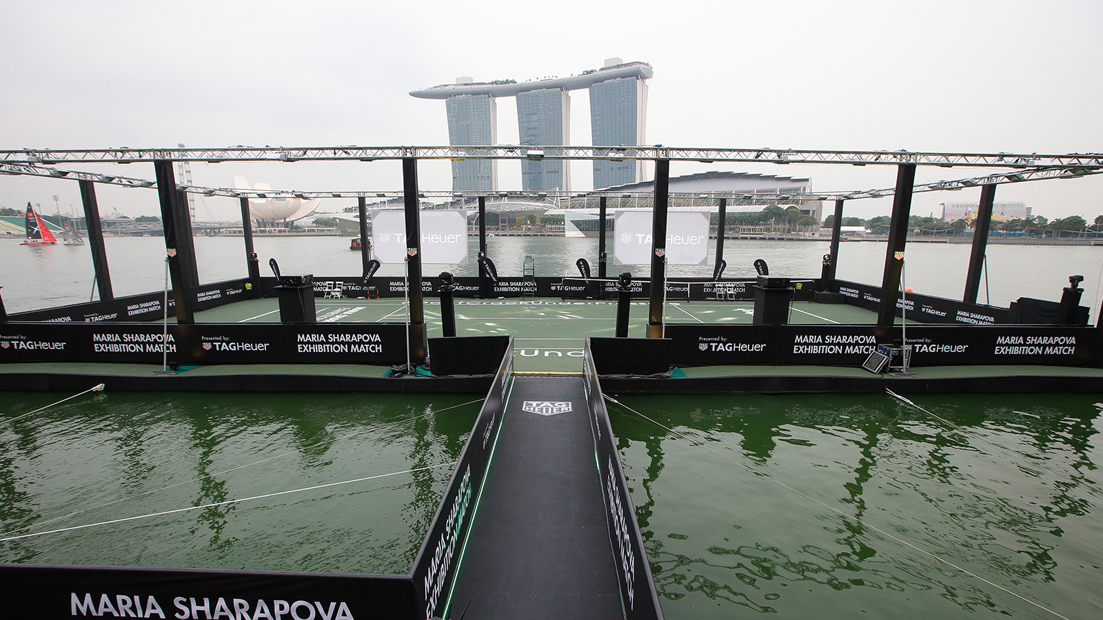 Singapore's first floating tennis platform