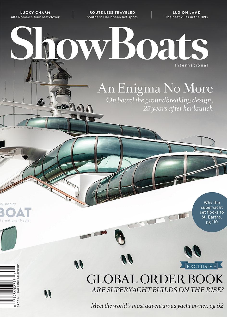 January issue of ShowBoats International