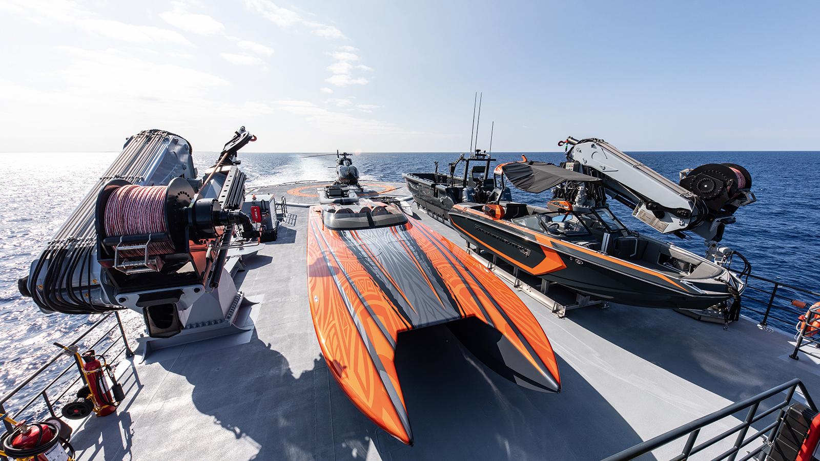 catamaran-superyacht-Hodor-worlds-largest-toybox-tenders