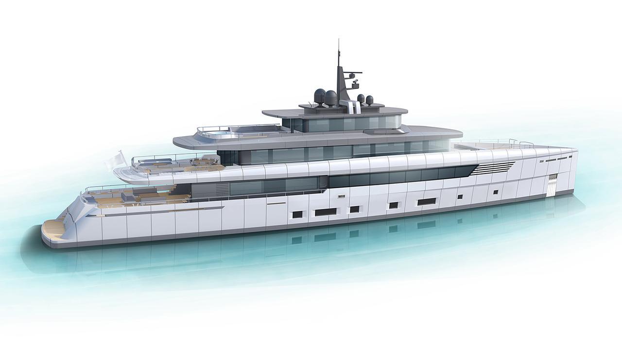 perini navi launches 56m motor yacht boat international. Black Bedroom Furniture Sets. Home Design Ideas