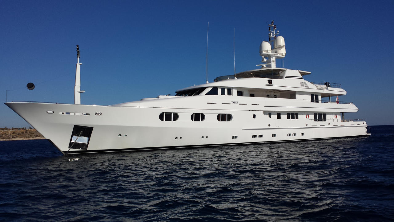 Turquoise motor yacht tales now for sale with burgess for Large motor yachts for sale