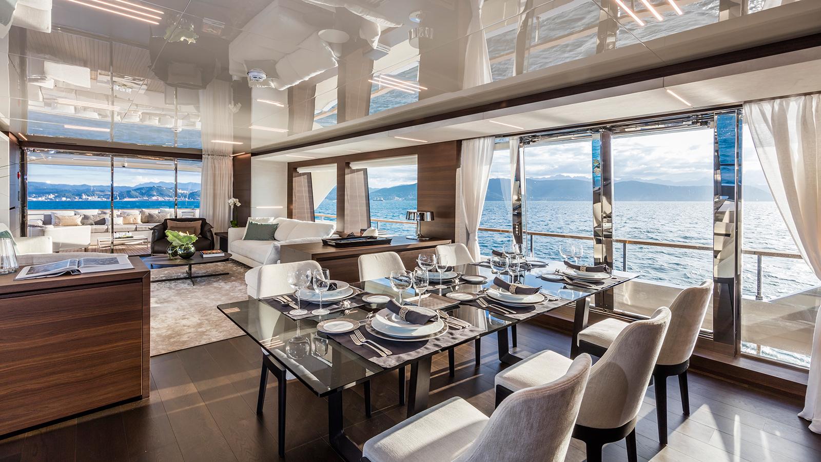 the-dining-area-of-the-custom-line-navetta-37-superyacht