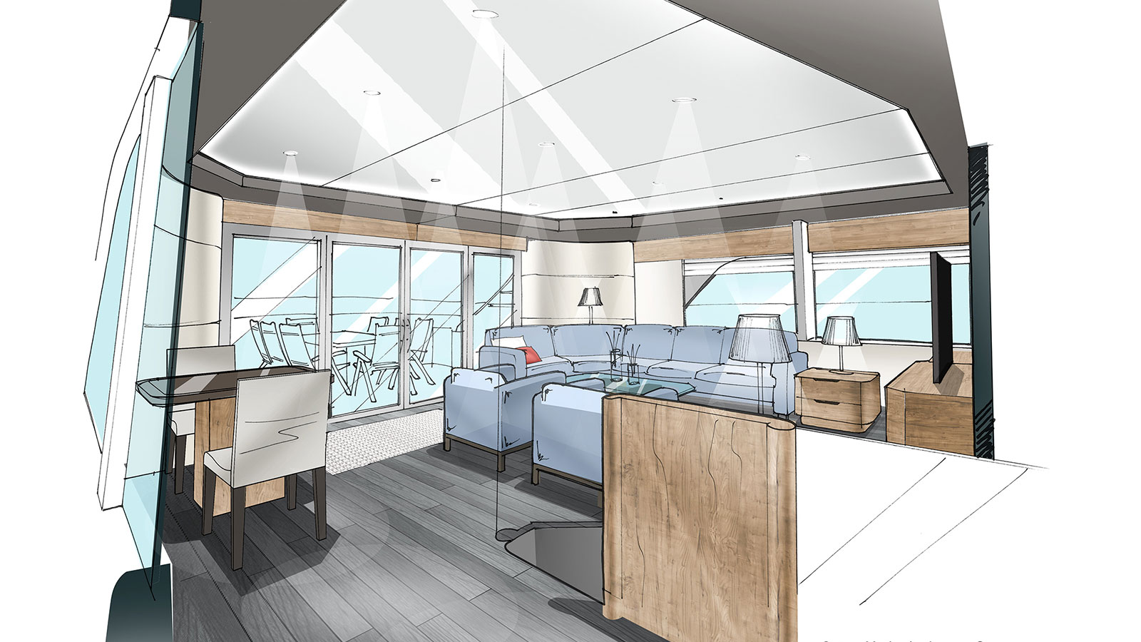 Outer Reef Trident 3000 skylounge
