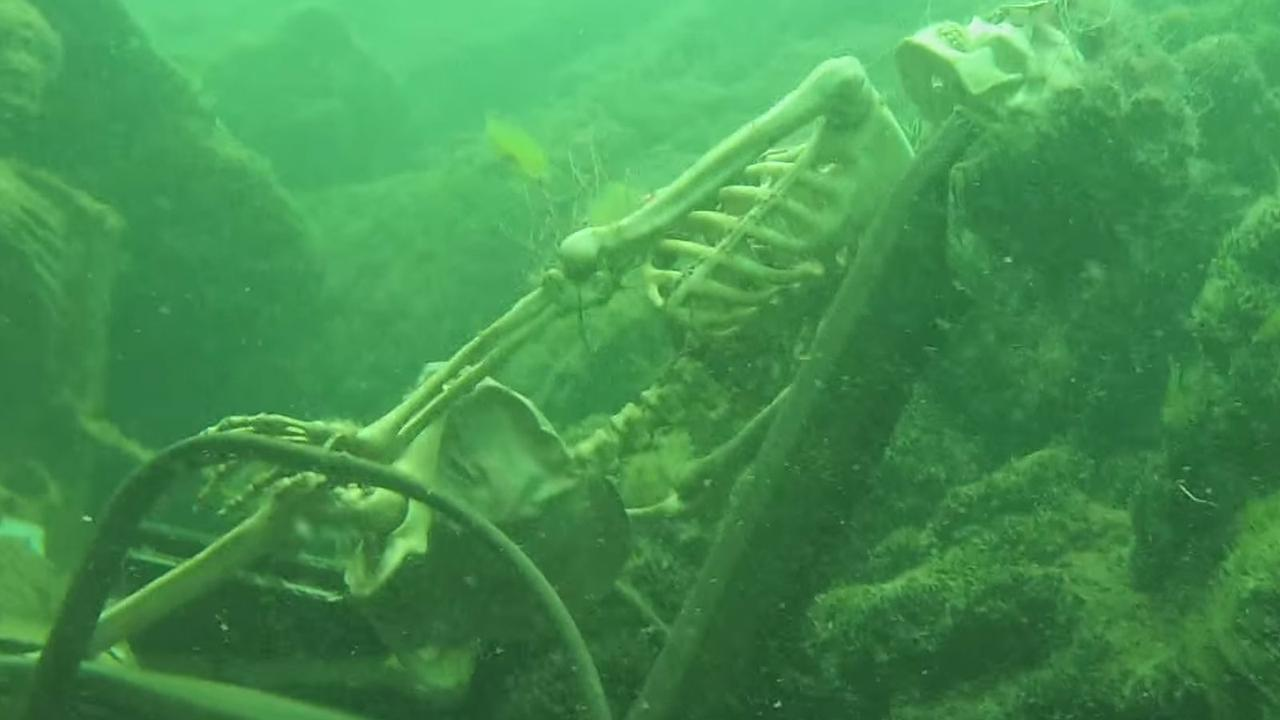 Underwater skeleton tea party discovered by divers | Boat ...